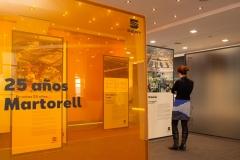 El córner histórico instalado en el Edificio Corporativo.