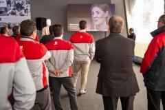 Un momento de la proyección del vídeo conmemorativo de los 25 años de Martorell.