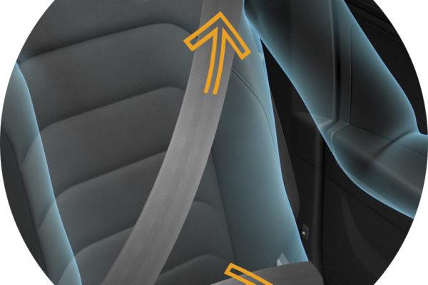 Tensa el cinturón de seguridad
