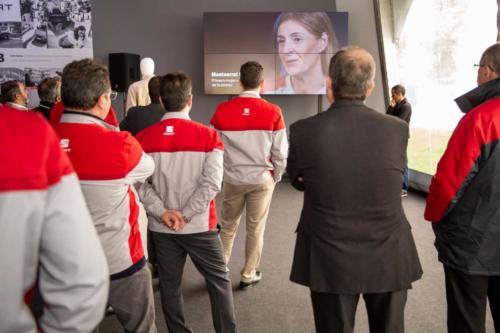 Un momento de la proyección del vídeo conmemorativode los 25 años de Martorell.